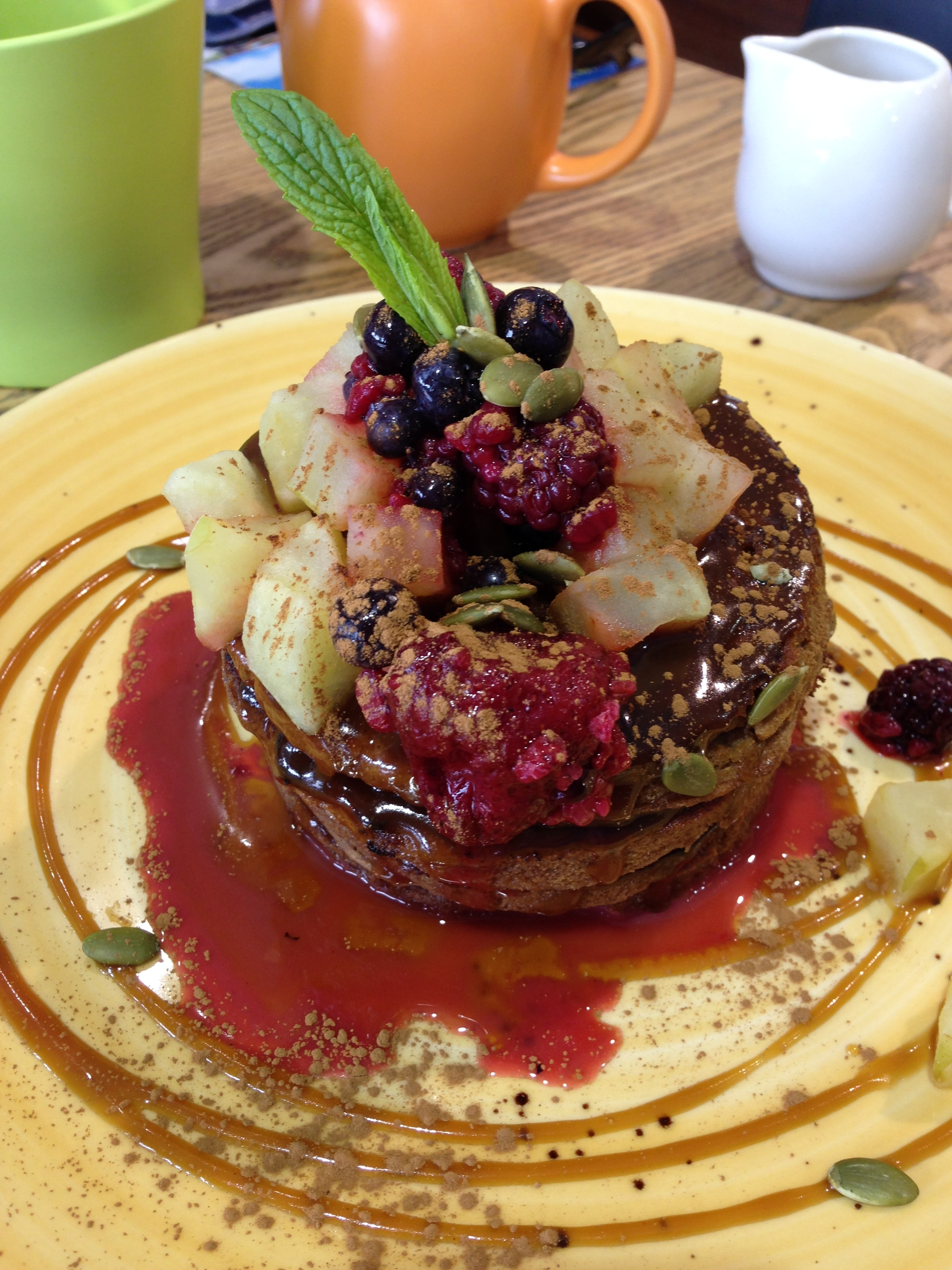 Health Freak Cafe: Vegan pumpkin spice protein pancakes
