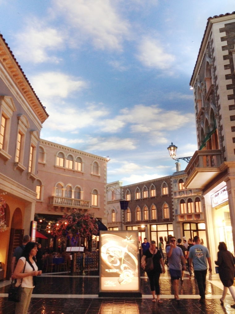 Grand Canal Shoppes at The Venetian: this is inside - that sky isn't real!