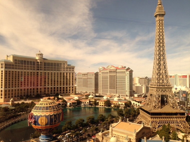The Vegas Strip: view from our hotel room