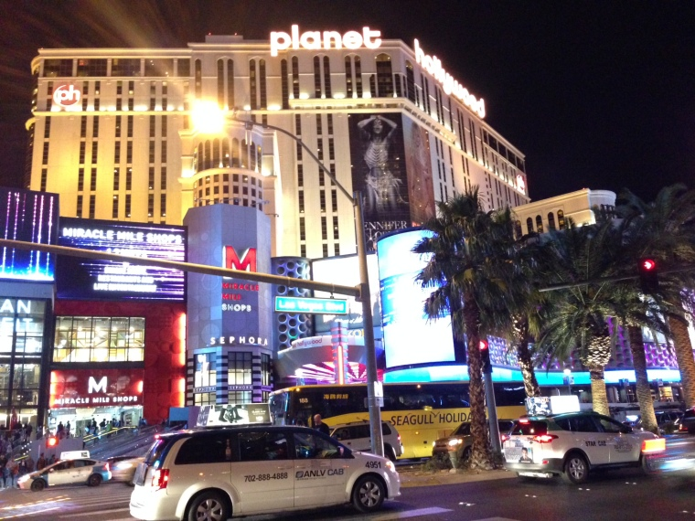 Planet Hollywood: view of our hotel from across the street