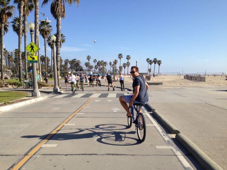 Cycling the Santa Monica coast
