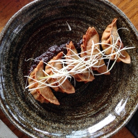 Ku De Ta, Seminyak: heavenly dumplings with black sauce!