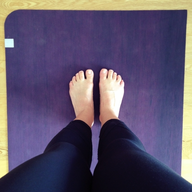 Yoga: do the 'sheer' test and you'll only expose your toes.