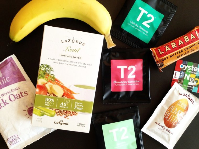 Travel snacks: the most common foods you'll find in my carry-on luggage or on my hotel dresser!