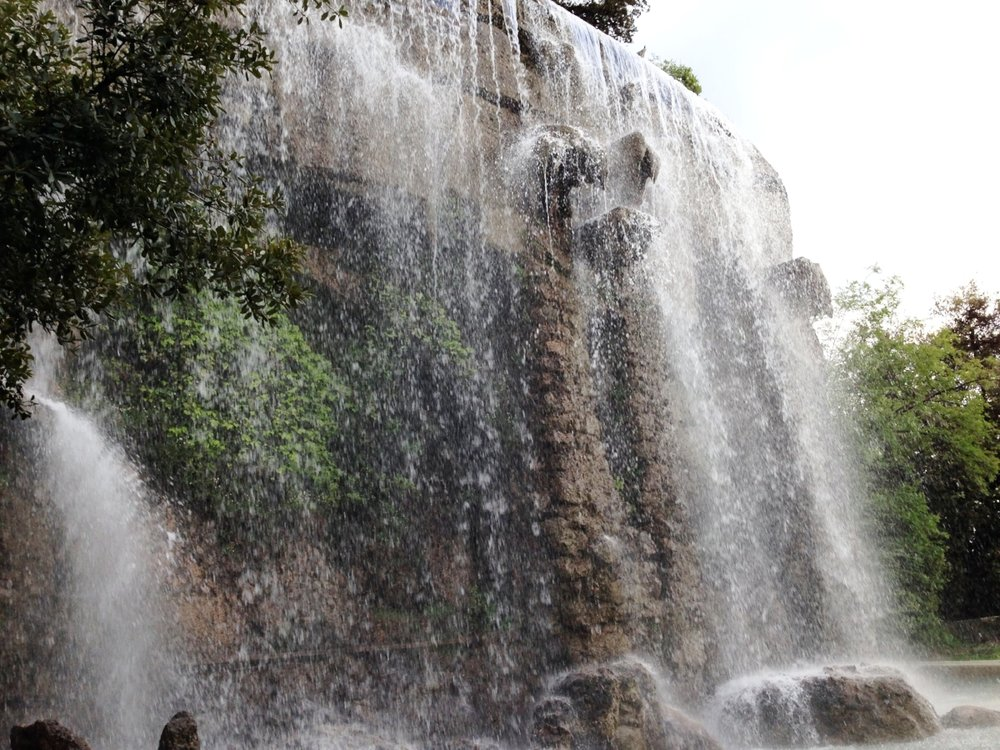 Castle Hill: a waterfall was such a surprise in a city park!