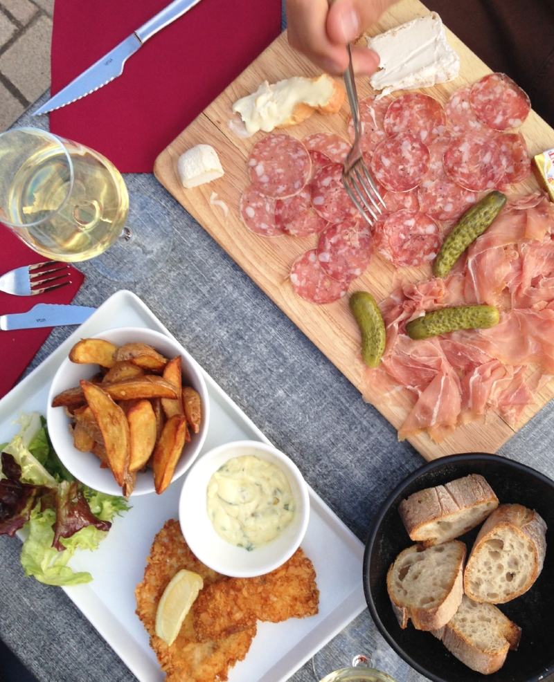 French cuisine: Beaune is serious meat and cheese territory.