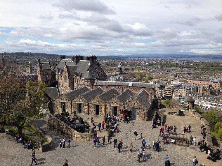Edinburgh Castle: stunning views of the city.