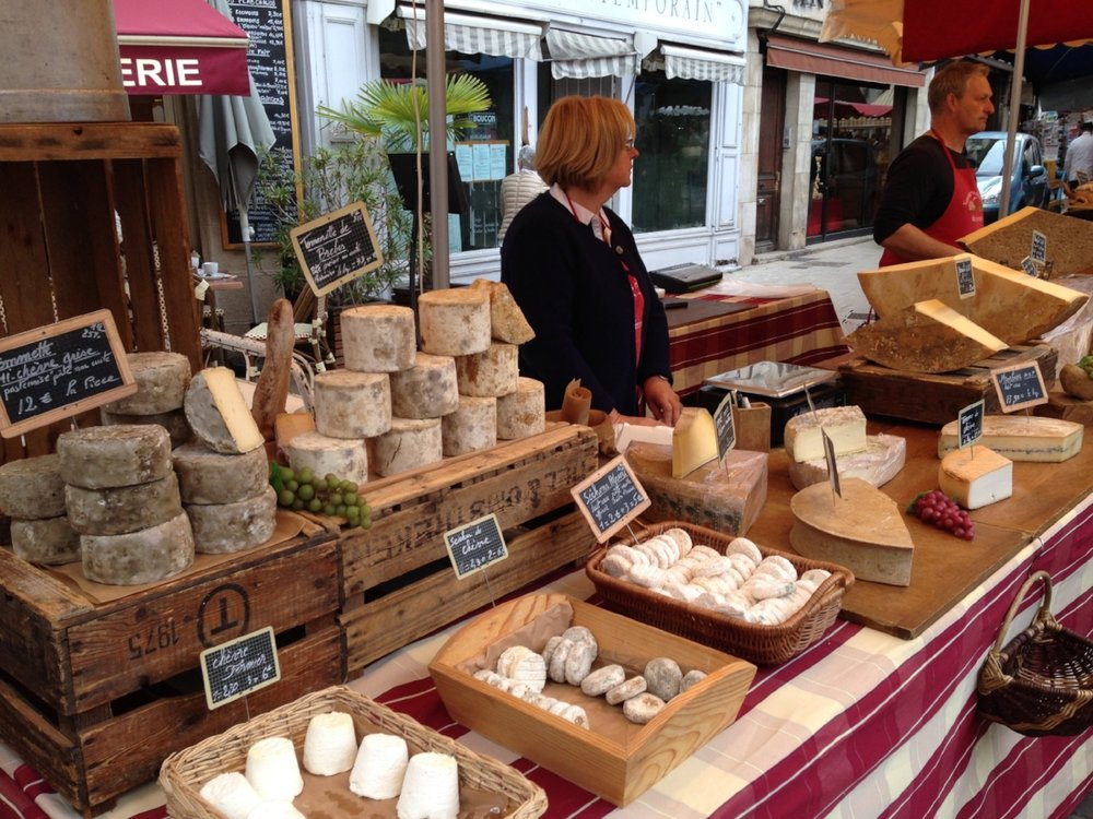 Saturday market: this was one of at least a dozen cheese stands!