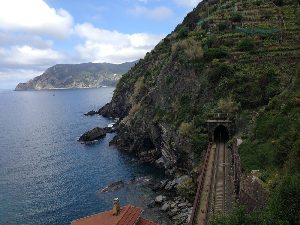 Train: I became obsessed with photographing Cinque Terre's railway tunnels. So beautiful!