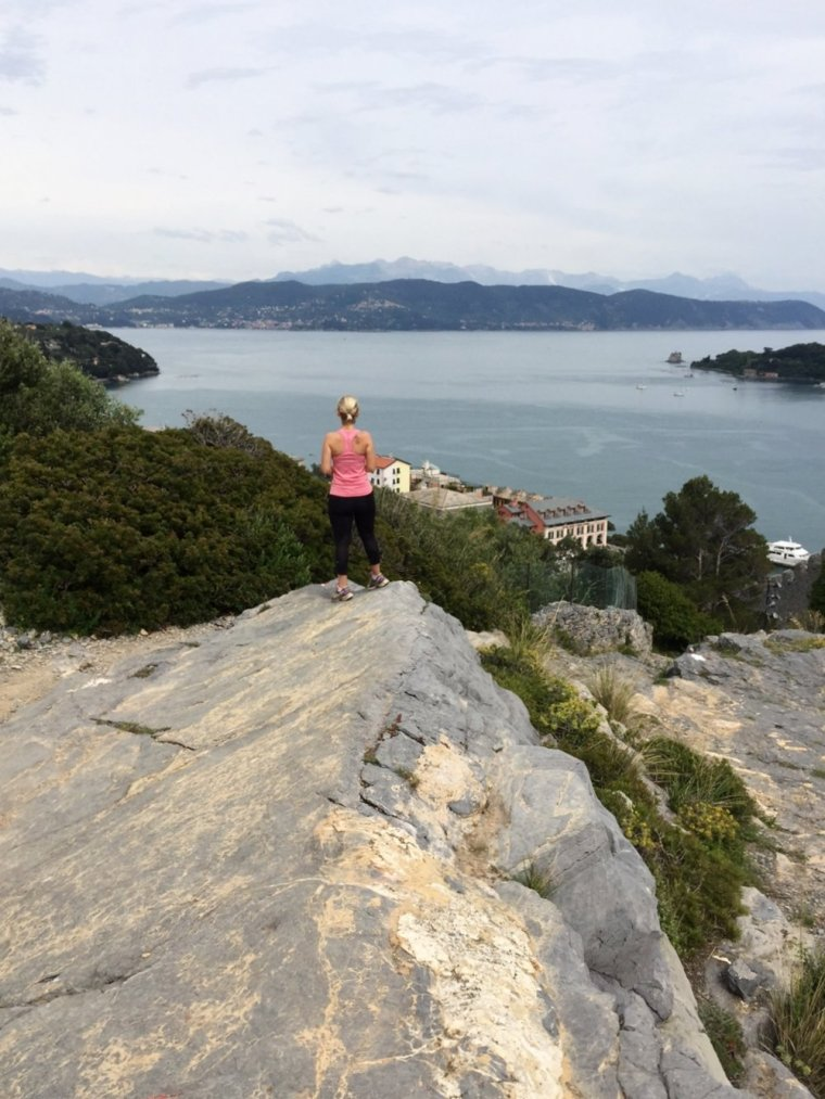 Portovenere: looking over the town from the trail.