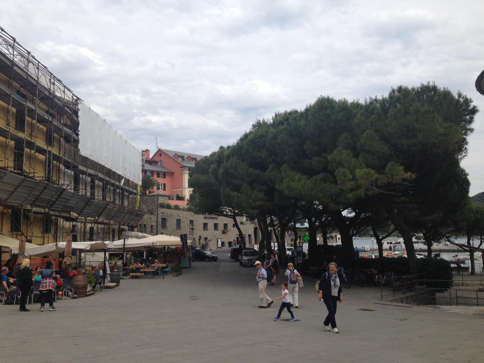 Portovenere: waterfront near the ferry area.