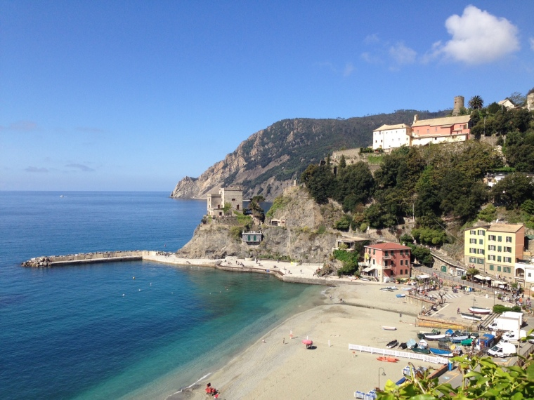 Monterosso: viewed early on from trail to Vernazza.