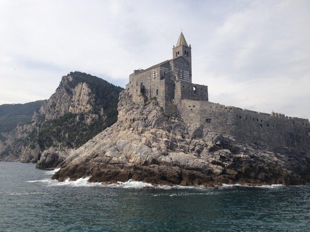 Portovenere: the castle viewed from the ferry back to Monterosso. Incredible!