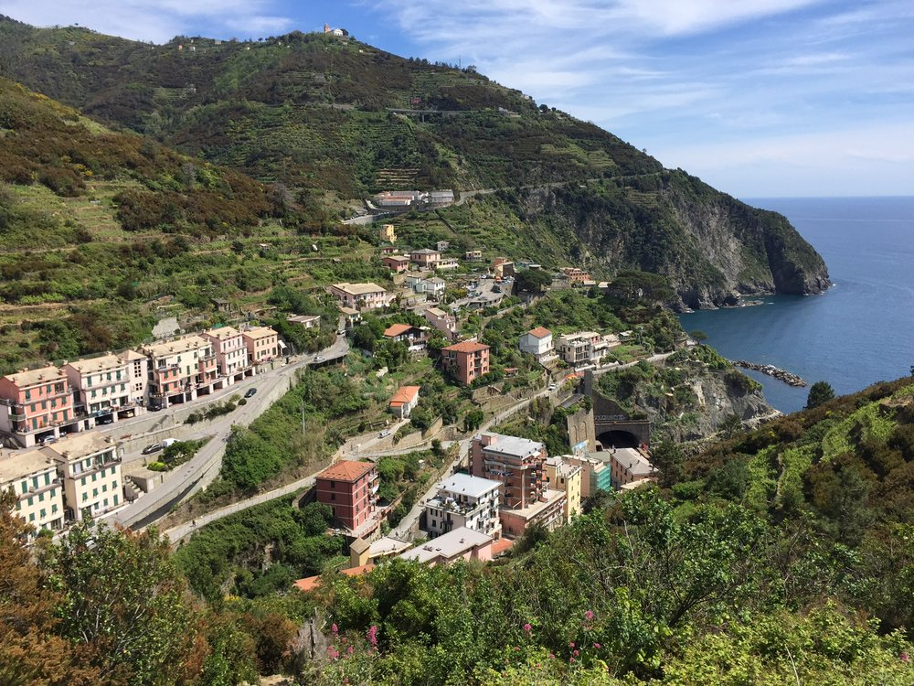 Riomaggiore: the Blue Path section to Manarola was closed but we took an intense, 600 step alternative.
