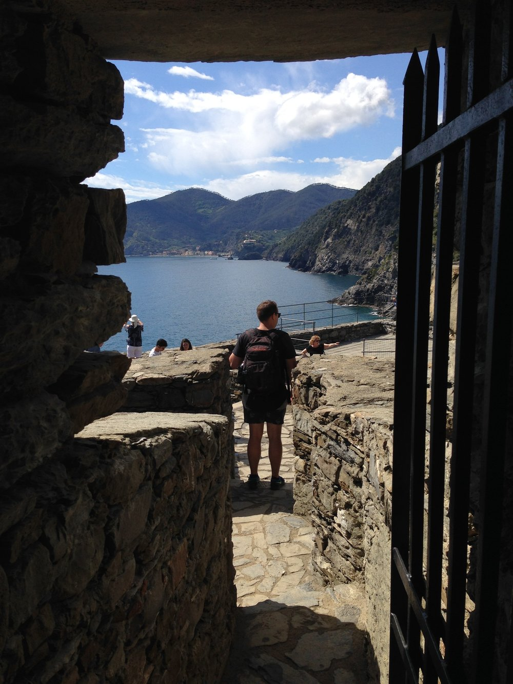 Vernazza: the view from the castle tower.