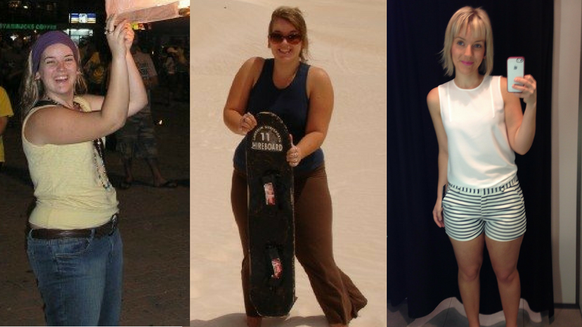 2006 to 2014: the difference between more than 90kg and approaching 60kg.