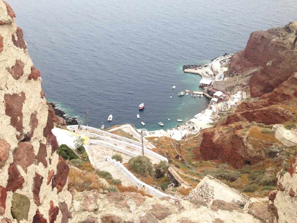 Amoudi Bay: viewed from the top of Oia