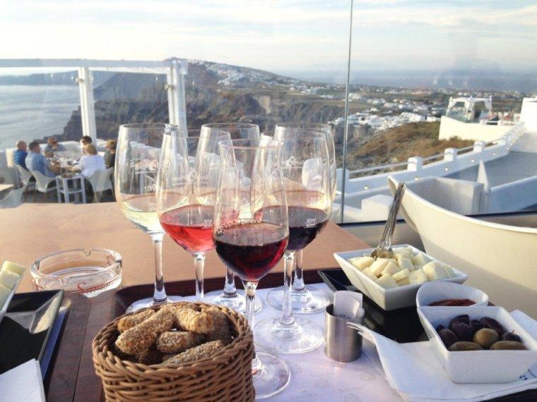Santo Wines: the six glass wine tasting & food platter