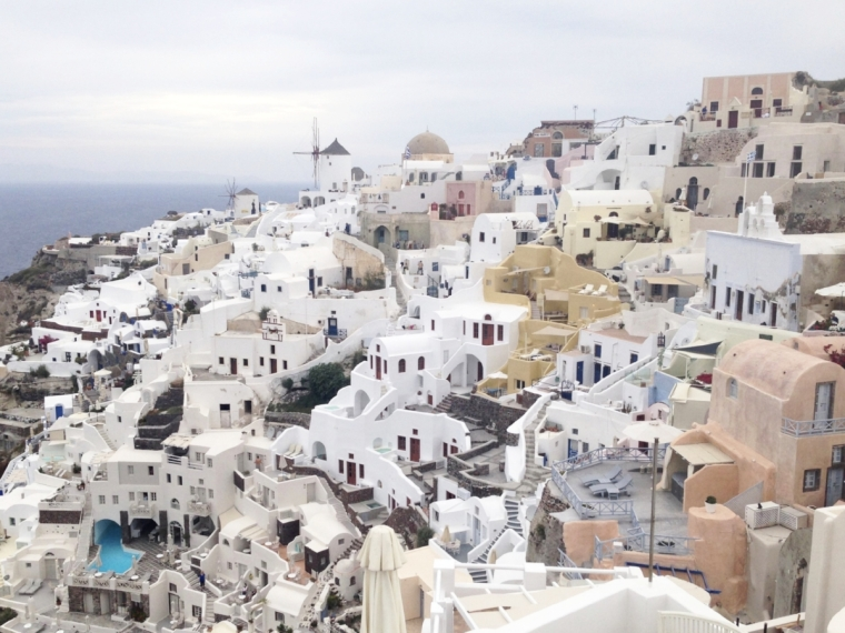 Oia: a Mediterranean fairytale, even on a cloudy day
