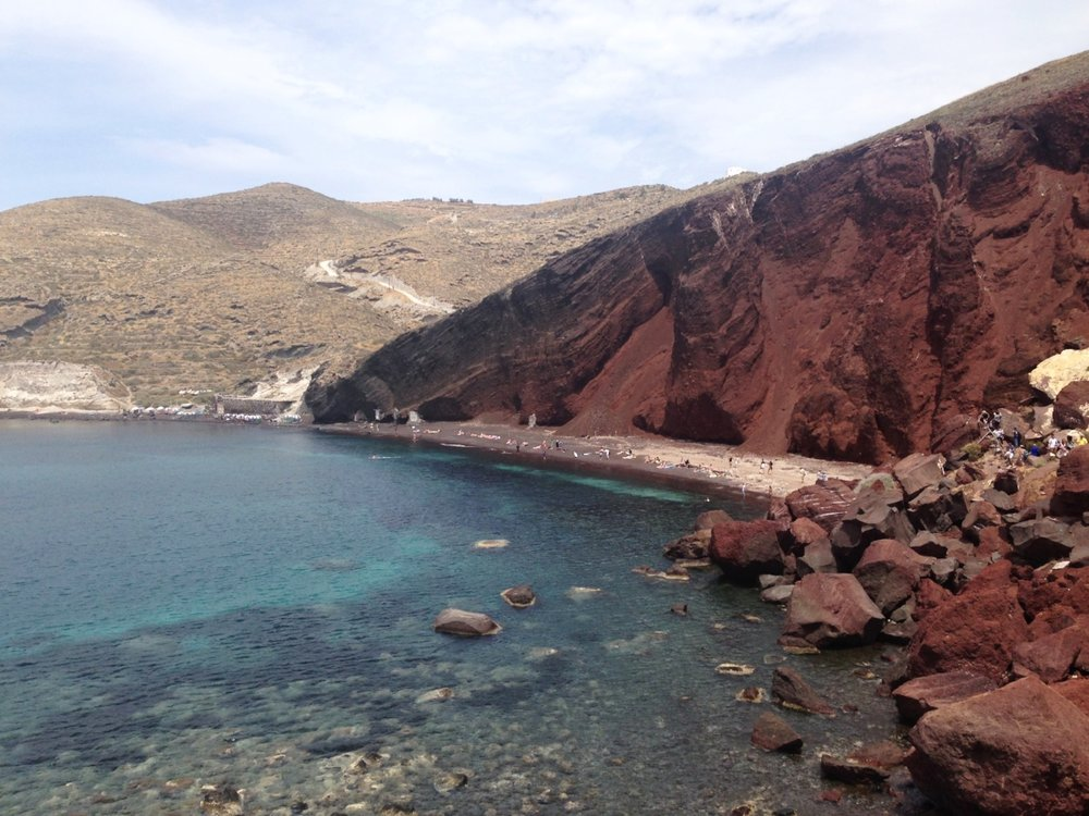 Red Beach: more for sightseeing than sunbaking