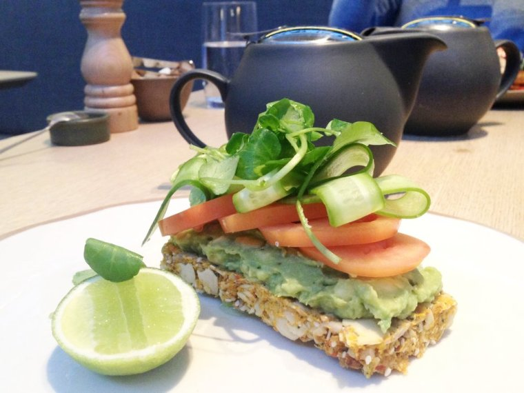 Post: Dining feels like a spa experience with its nut and seed 'real toast' with avocado.