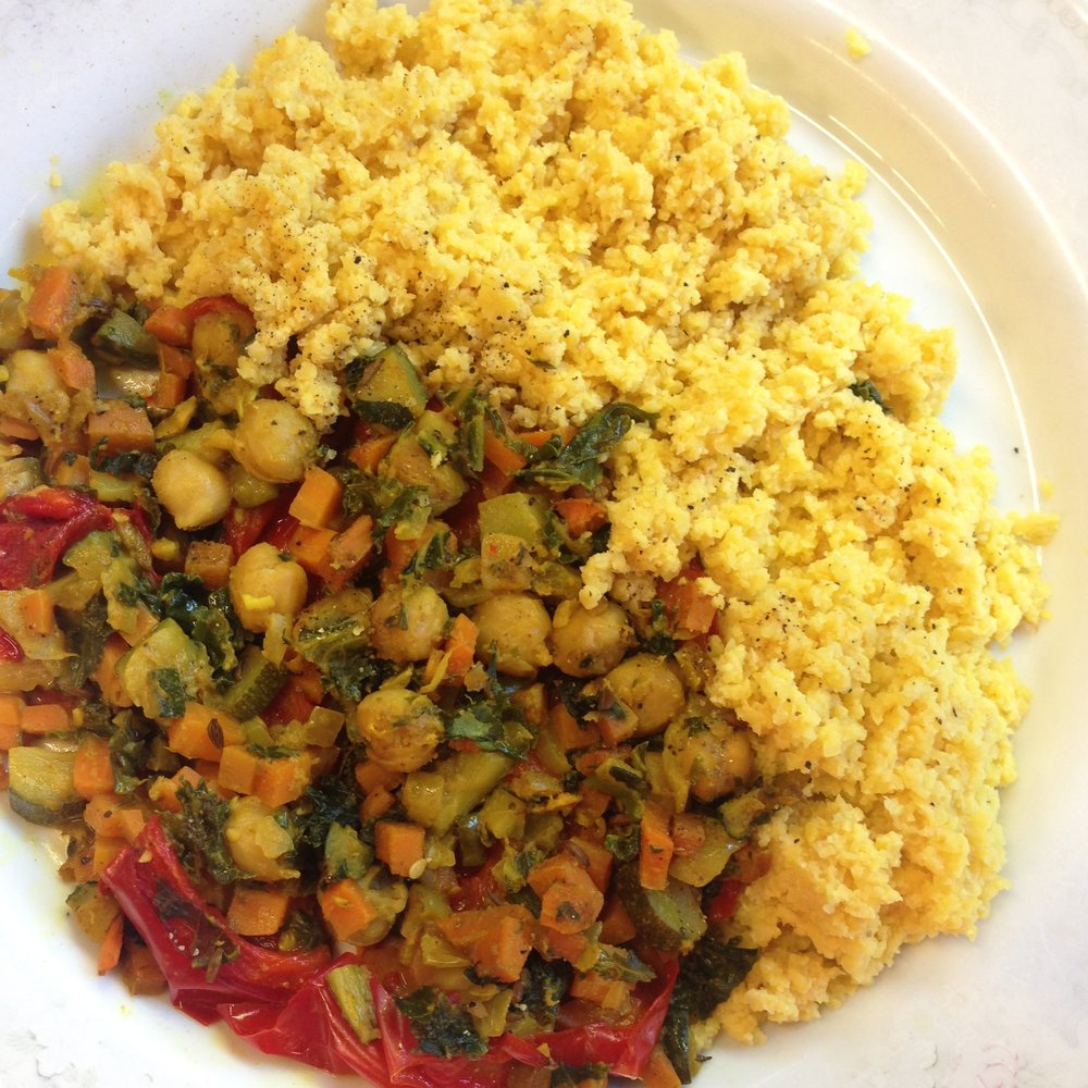 Moroccan tagine: cooked lupin flakes taste sensational with Middle Eastern dishes!