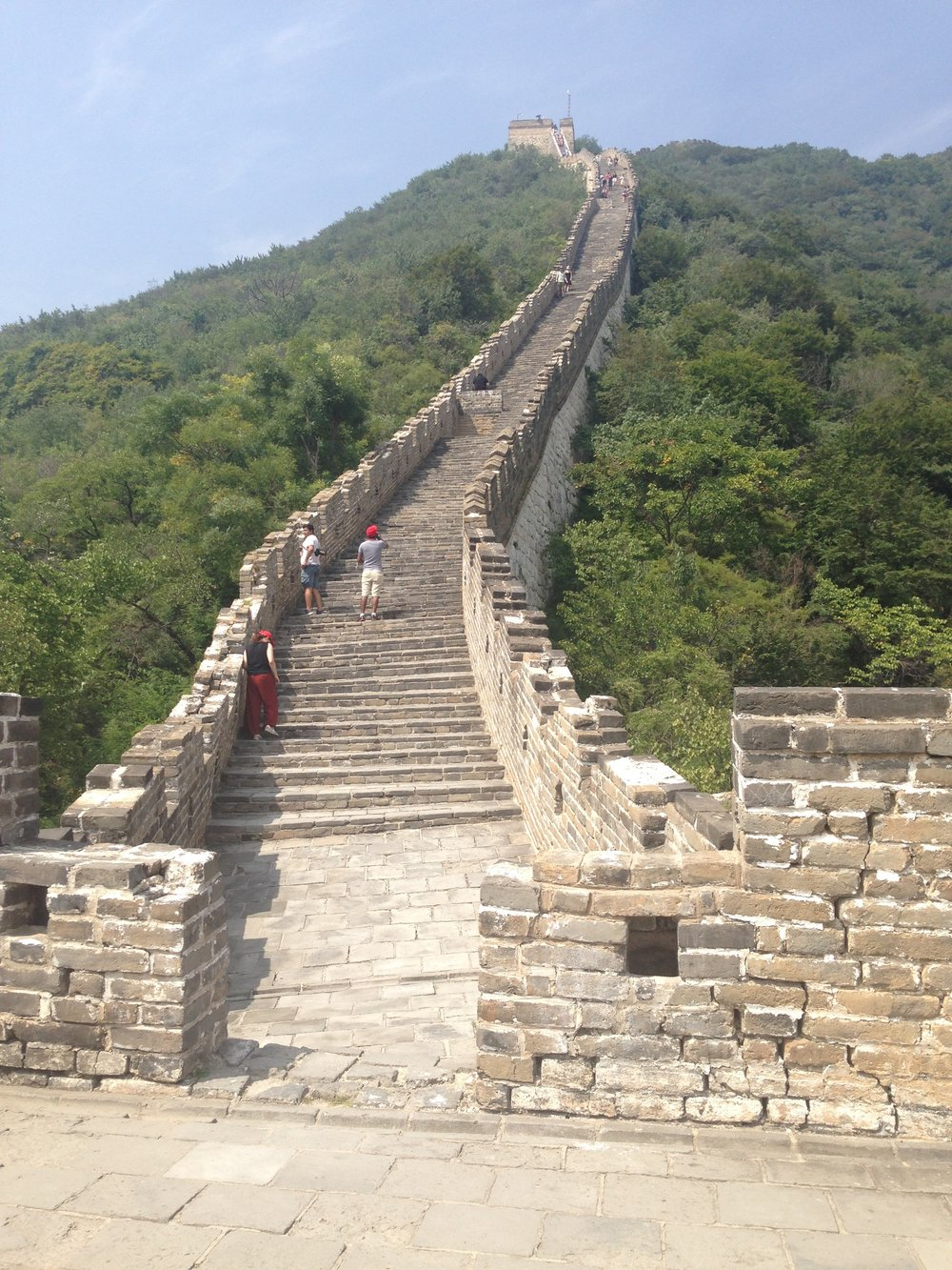 Mutianyu: you'll walk down this coming from Jiankou.