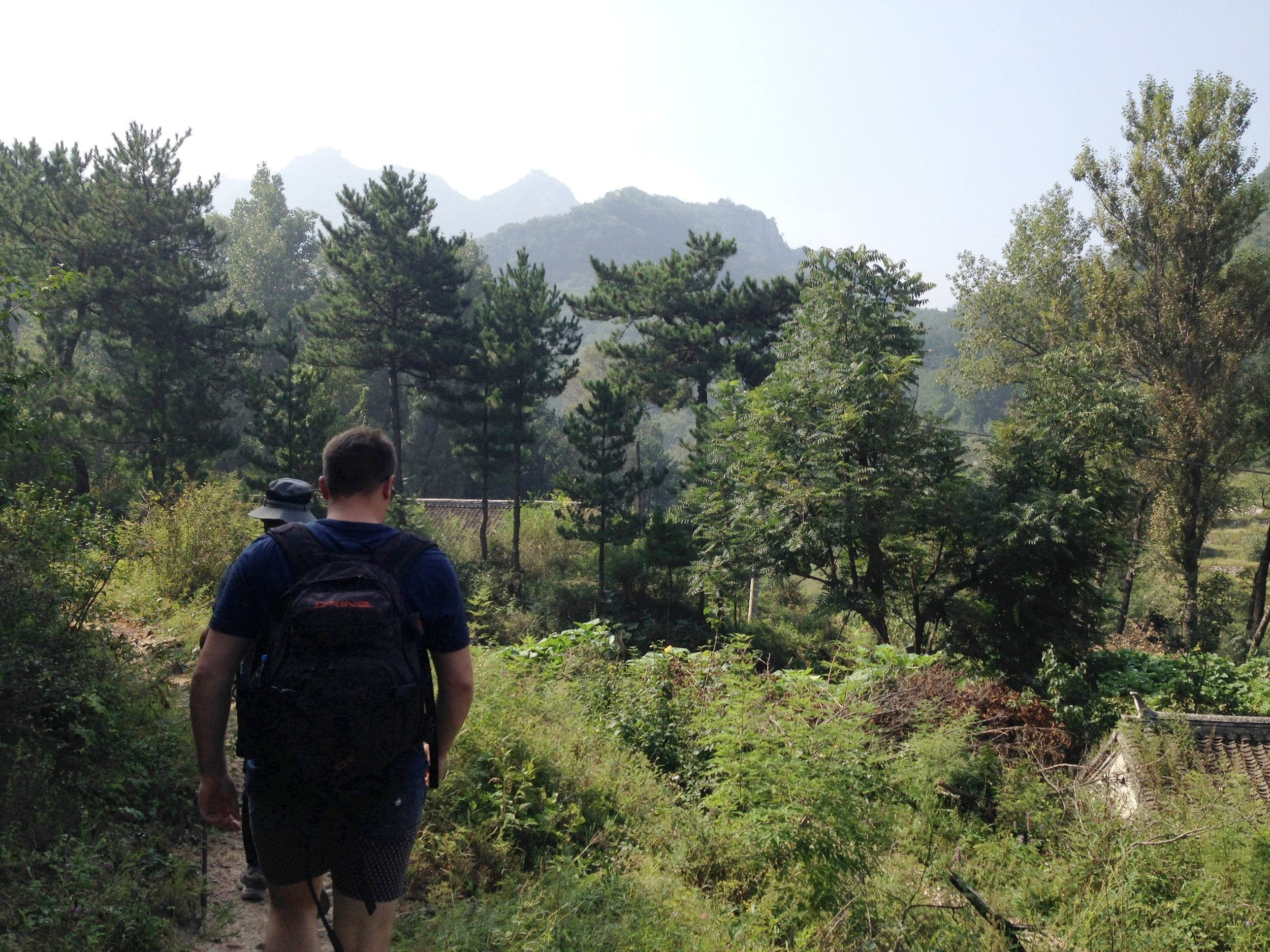 Xizhazi Village: the start of our one hour walk to reach Jiankou Tower.