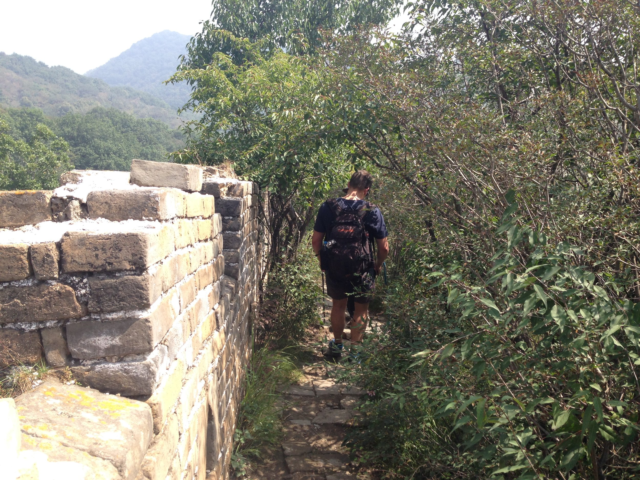 Jiankou: it's called 'wild' wall for a reason - it's unrestored and trees are unkept!