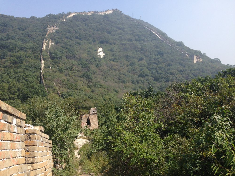 Jiankou: the steep loop is called the Ox Horn - our guide took us on a detour slightly south and off the wall.